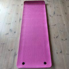 Træningsmåtte – Yogamåtte – Pink 15 mm tyk